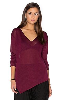 Morris Asymmetric Crew in Plum