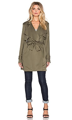 Viktoria + Woods Solitude Short Trench Coat in Khaki
