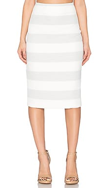 Viktoria + Woods Scorpio Tube Skirt in Grey Block Stripe