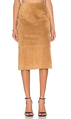 Viktoria + Woods Defiant Pencil Skirt in Tan