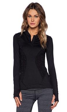 Vimmia Half Zip Lace Pullover in Black
