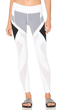 Allegiance Legging in Heather Grey & White