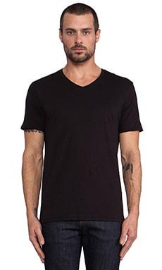 Vince Favorite Jersey V-Neck en Noir