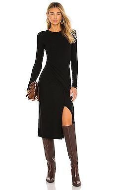 Long Sleeve Draped Dress Vince $295