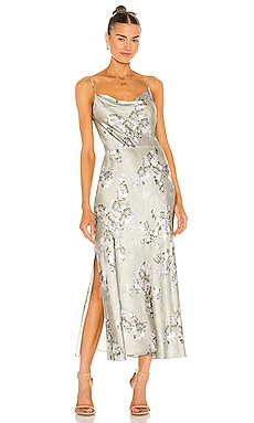 Hazy Blossom Cowl Neck Slip Dress Vince $425