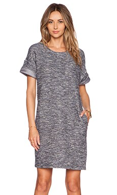 Vince Rolled Sleeve Dress in Dark Indigo