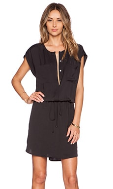 Vince Shirt Dress in Black