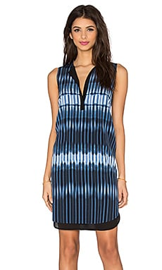 Vince Printed Tie Dye Double Layer Dress in Monaco & Starlight
