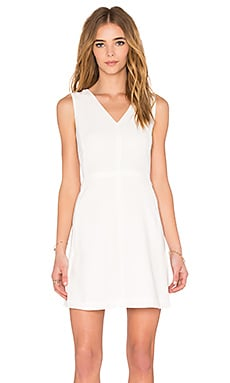 Vince V-Neck Sleeveless Dress in Off White