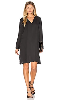 Pintuck Dress in Black