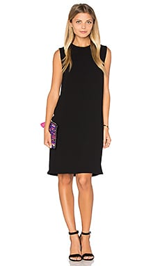 Sleeveless Shift Dress in Black