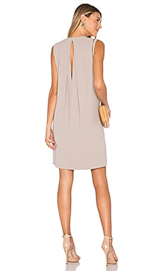 Crepe Shift Dress in Sand