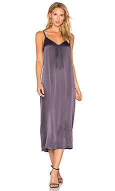Silk Pleat Dress in Plum