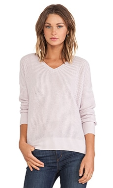 Vince Thermal Double V Sweater in Cameo
