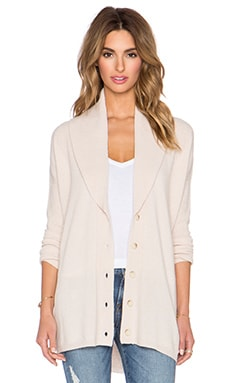 Vince Directional Rib Cardigan in Sandshell