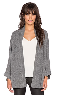 Vince Patch Pocket Cape in Heather Stone