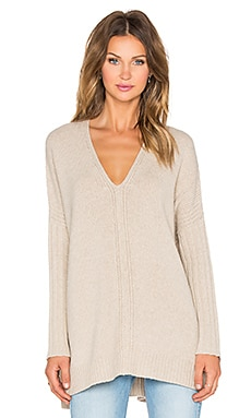 Vince Vee Poncho in Heather Oatmeal