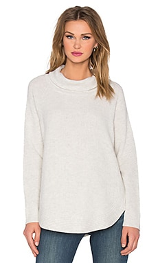 Vince Side Zip Turtleneck Sweater in Heather Cloud