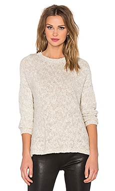 Tweed Drop Shoulder Sweater en Naturel