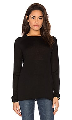 Vince Rolled High Neck Pullover Sweater in Black