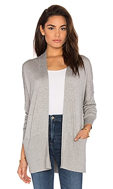 Vince Open Front Cardigan in Heather Steel