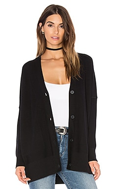 Vince Double Face Cardigan in Black