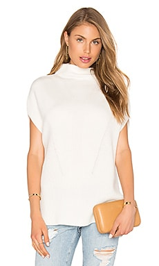 Sleeveless Turtleneck in Off White