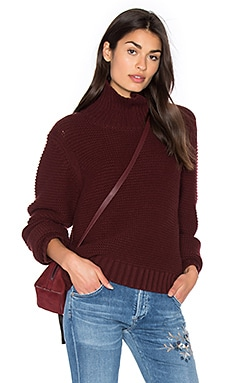 Cowl Neck Sweater en Cordovan