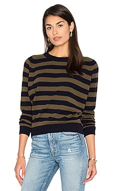 Regiment Stripe Sweater in Coastal & Rifle