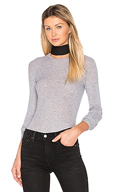 Ribbed Sweater en Acier Chiné