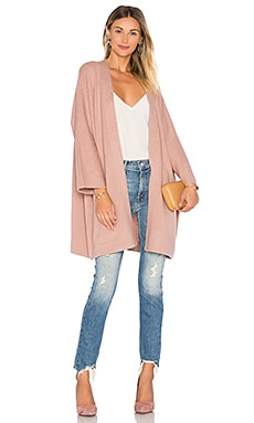 Blanket Coat in Rose