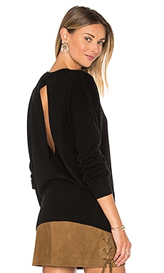 Split Back Sweater en Noir