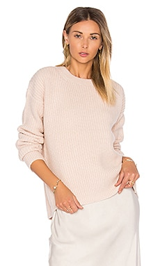 Half Cardigan Crew Sweater en Sable