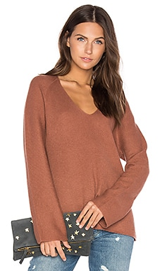 Deep V Pullover in Cinnamon