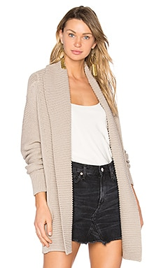 Chunky Cardigan in Fossil