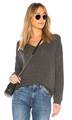 Drop Shoulder V Neck Pullover