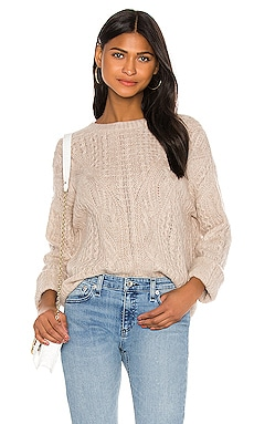 Open Knit Cable Crew Sweater Vince $270