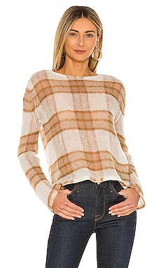 Brushed Plaid Pullover Vince $325 NEW