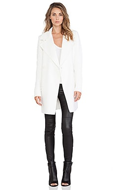 Vince Sweater Sleeve Coat in Winter White