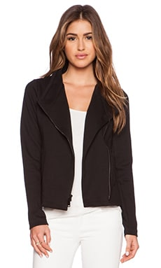 Vince Knit Scuba Jacket in Black