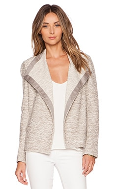 Vince Drape Neck Jacket in Sandbar