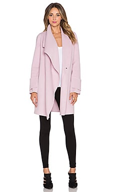 Vince Drape Neck Coat in Orchid