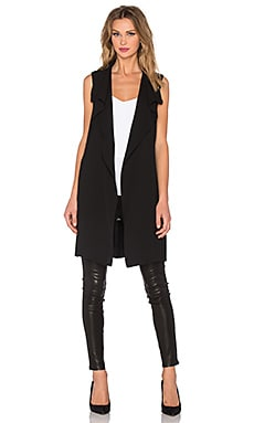 Vince Drape Vest in Black