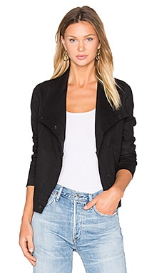 Coated Denim Jacket en Noir