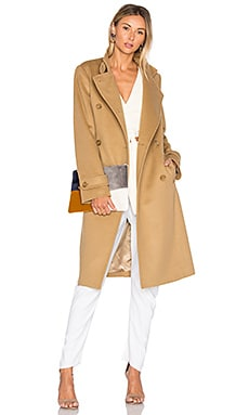 Melton Trench Coat in Camel