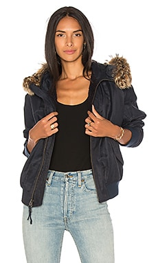 Fur Trim Bomber