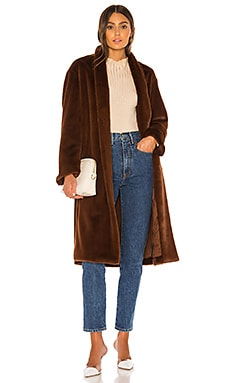 Long Plush Coat Vince $357