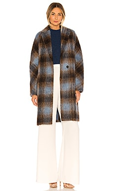 Belted Plaid Coat Vince $582