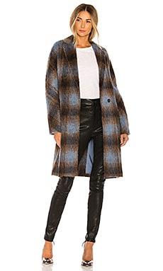 Belted Plaid Coat Vince $582