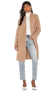 Collarless Cardigan Coat Vince $545 NEW